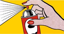 Spray, obra de Roy Lichtenstein, 1962.