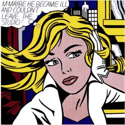 M-Maybe, obra de Roy Lichtenstein, 1965.