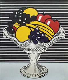 Still life with crystal bowl, obra de Roy Lichtenstein.