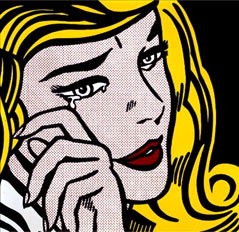 Crying girl, obra de Roy Lichtenstein.
