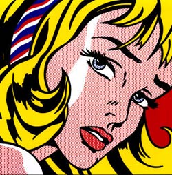 Girl with hair ribbon, obra de Roy Lichtenstein.