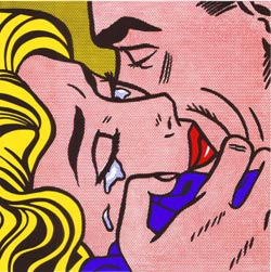 The Kiss IV, obra de Roy Lichtenstein, 1964.