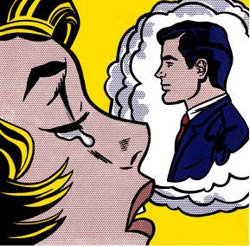 Thinking of Him, obra de Roy Lichtenstein.